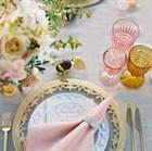 Бокалы на свадьбу из цветного стекла