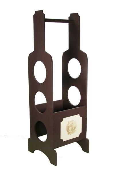 Бутылочница деревянная коричневая - фото 10002