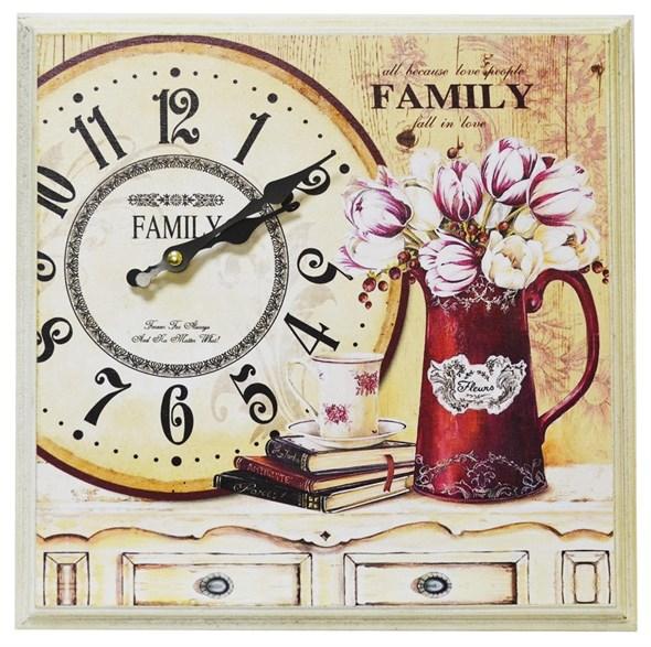 "Часы-панно в раме ""Любимая семья"" - фото 10072"