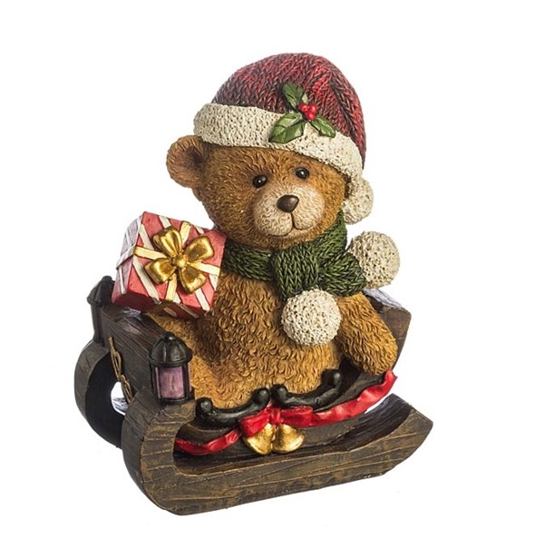 "Статуэтка ""Медвежонок на санях"" - фото 10120"