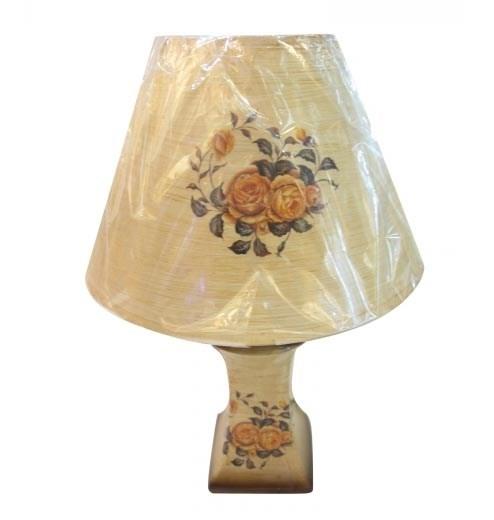 """Лампа настольная """"Оранжевые розы"""" - фото 10254"""