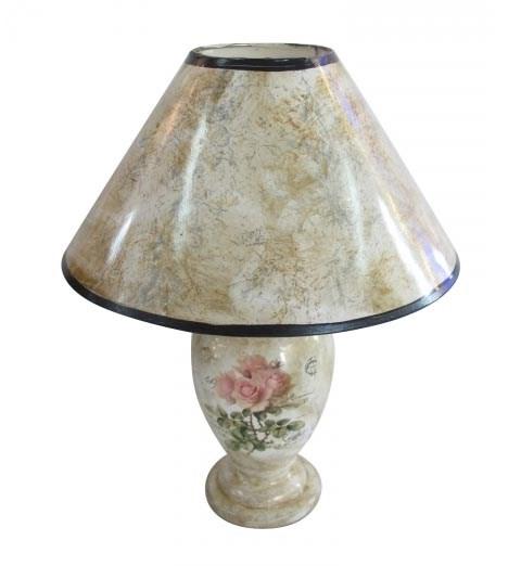 "Лампа настольная ""Розовые розы"" - фото 10256"
