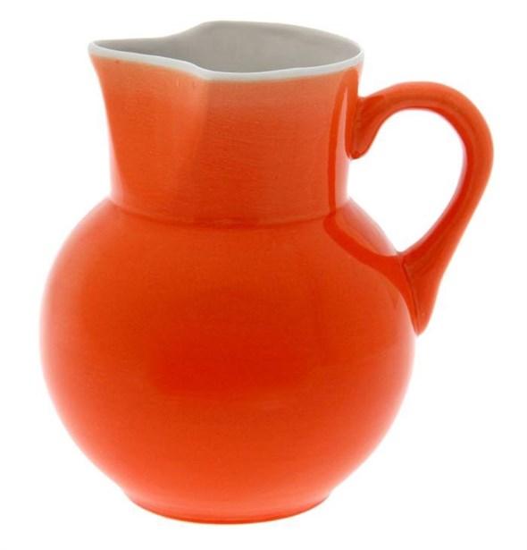 Кувшин керамический оранжевый 1700 мл - фото 10341