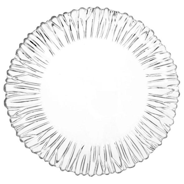 Тарелка стеклянная диаметр 31 см - фото 10362