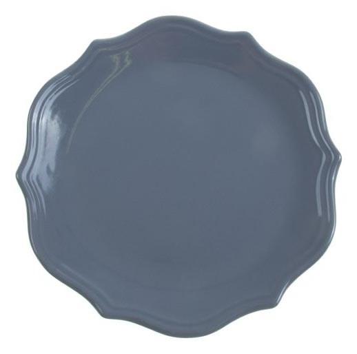 """Тарелка """"Испания"""" серая диаметр 26 см - фото 10363"""