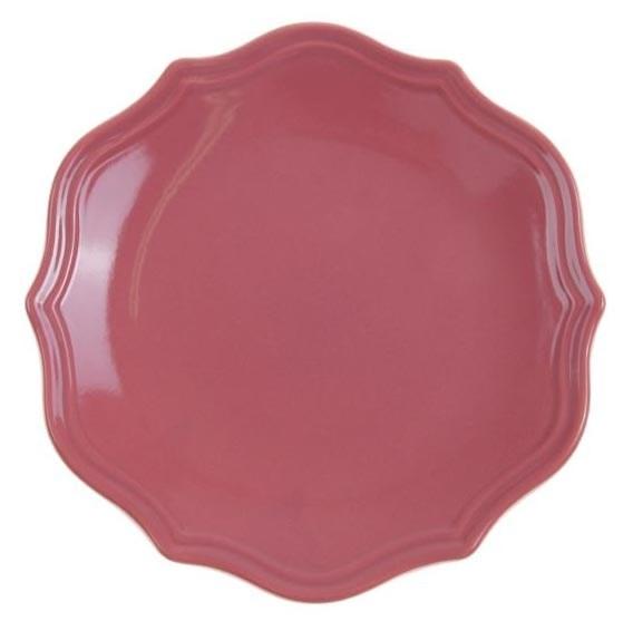 """Тарелка """"Испания"""" розовая диаметр 21 см - фото 10365"""