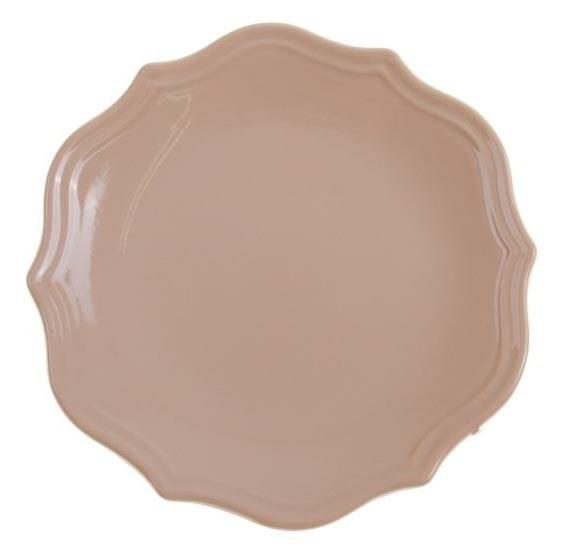 """Тарелка """"Испания"""" бежевая диаметр 21 см - фото 10366"""