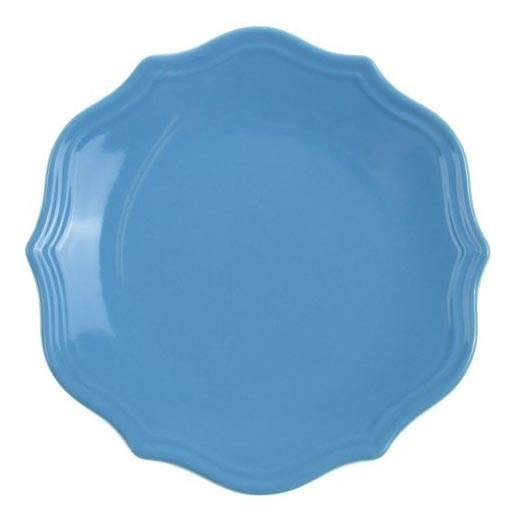 """Тарелка """"Испания"""" синяя диаметр 21 см - фото 10367"""