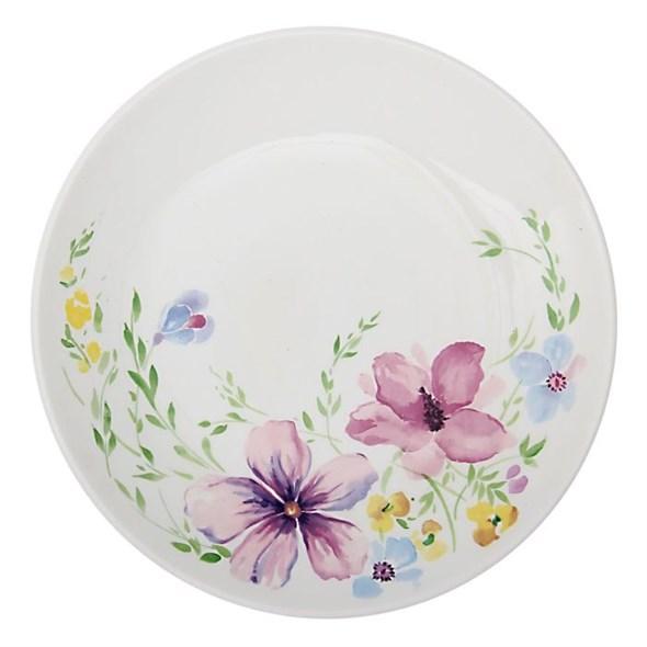 """Тарелка """"Нежные цветы"""" диаметр 22 см - фото 10371"""