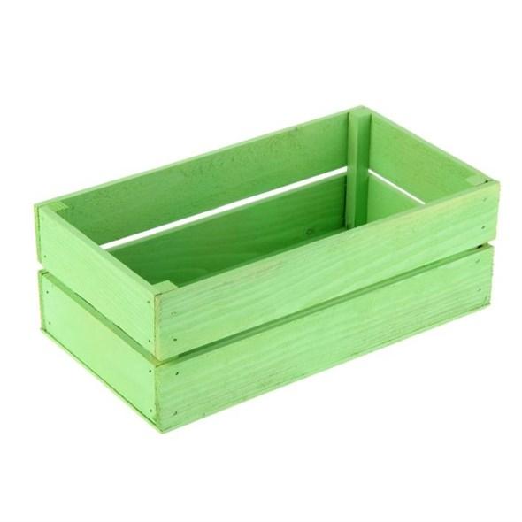 Ящик деревянный зеленый 24,5 х 13,5 см - фото 10432