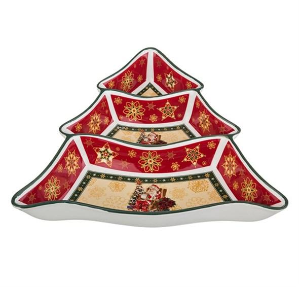"""Менажница """"Новогодняя елочка"""" в подарочной упаковке - фото 10524"""