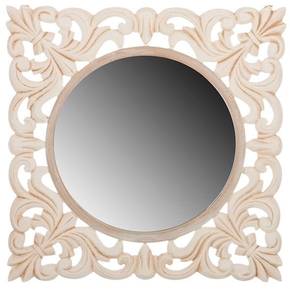 Зеркало настенное квадратное резное - фото 10540