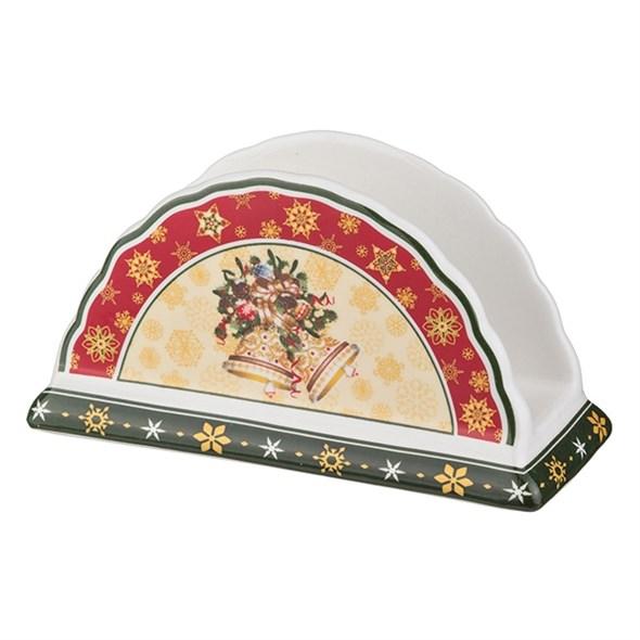 """Салфетница """"Новогодние бубенцы"""" в подарочной упаковке - фото 10592"""