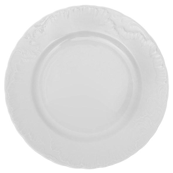 """Тарелка """"Белые лепестки"""", диаметр 25 см - фото 10627"""