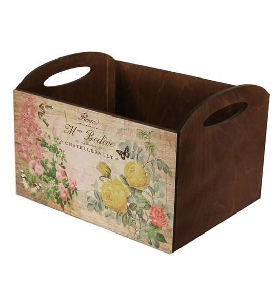 """Ящик для хранения деревянный """"Винтажный сад"""" - фото 10650"""