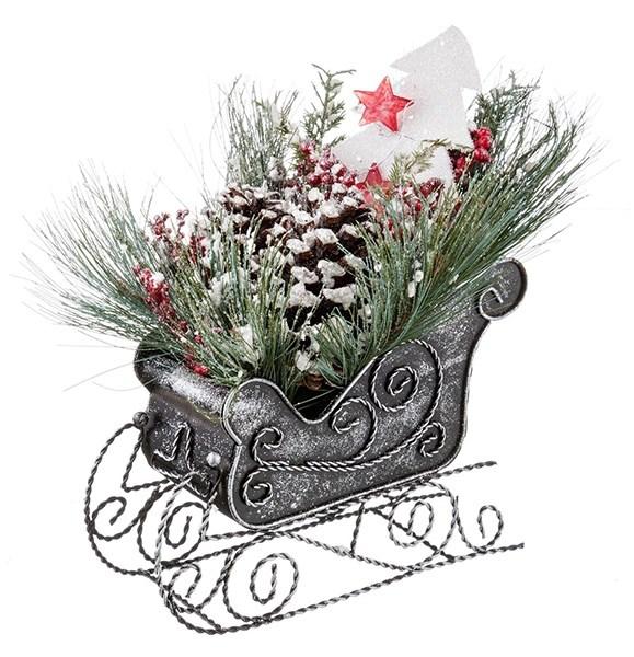 Декоративные новогодние сани - фото 10661