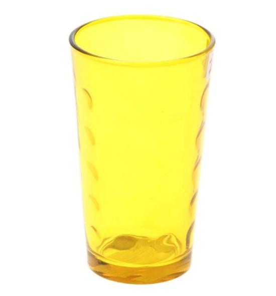 Стакан стеклянный желтый 340 мл - фото 10749