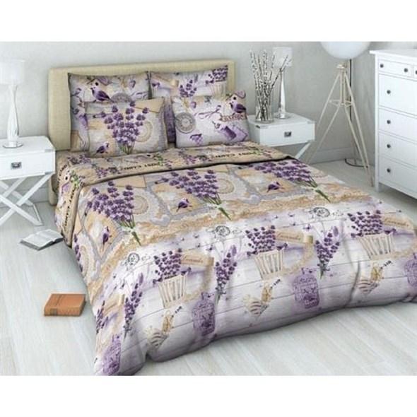 """Набор постельного белья """"Букет лаванды"""": пододеяльник 145х214 см, простыня 145х215 см, две наволочки 70х70 см - фото 10774"""