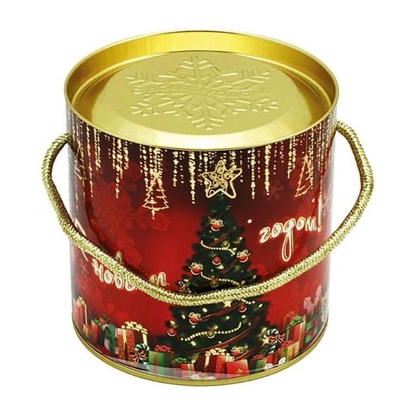 """Подарочная коробка с крышкой """"Новогодняя елка"""" 12х12 см - фото 10788"""