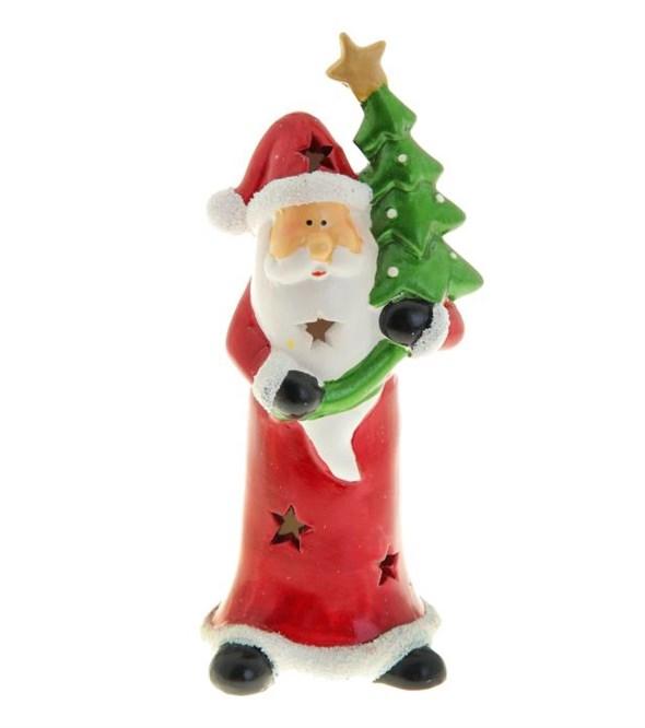 """Статуэтка """"Дед Мороз с елкой"""" световой - фото 10812"""