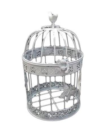 Клетка декоративная с птичкой большая - фото 10861