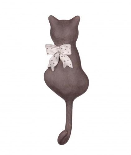 """Вешалка-крючок """"Кошка с бантом"""" - фото 10887"""