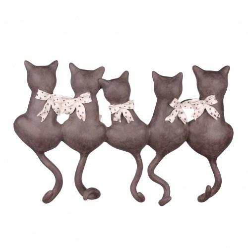 """Вешалка настенная """"Пять кошек"""" с крючками - фото 10888"""