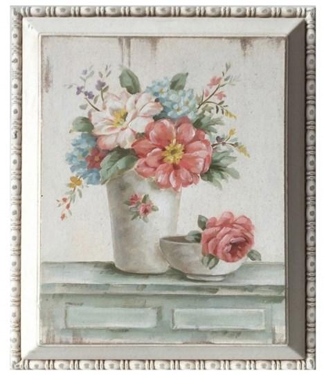 """Панно в раме """"Натюрморт с цветами"""" - фото 10920"""