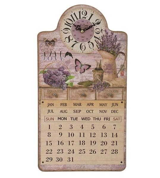 "Часы-календарь настенные ""Любимая лаванда"" - фото 10957"