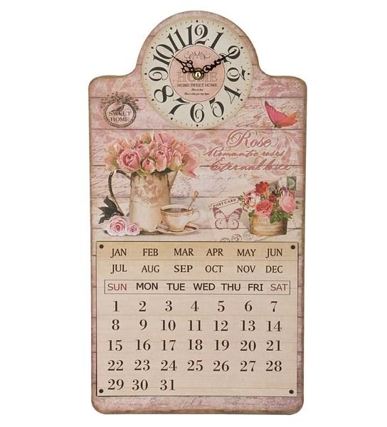 """Часы-календарь настенные """"Букет роз"""" - фото 10958"""