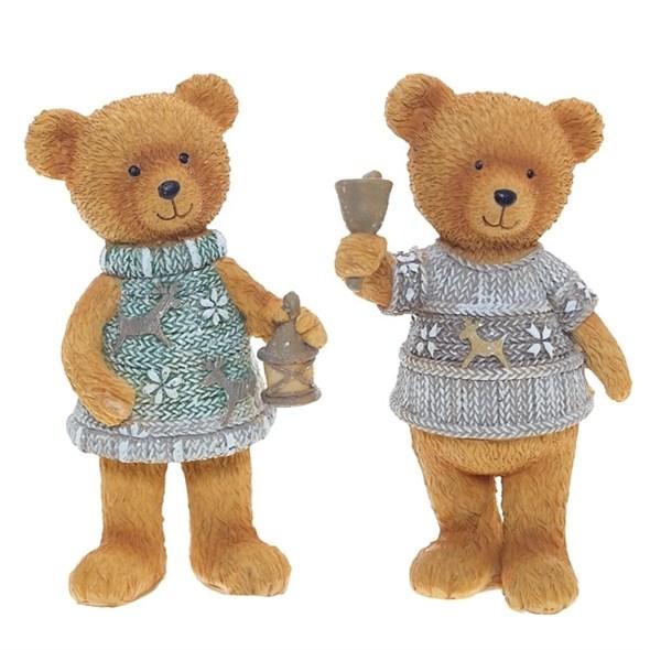 """Статуэтка """"Медвежонок в сером свитере"""" в ассортименте, цена указана за 1 шт - фото 10966"""