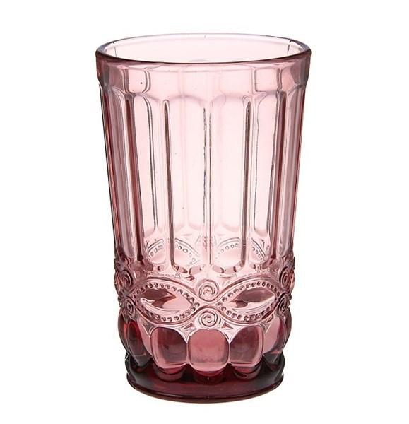 """Стакан """"Франция"""" розовый 350 мл из цветного стекла - фото 11264"""