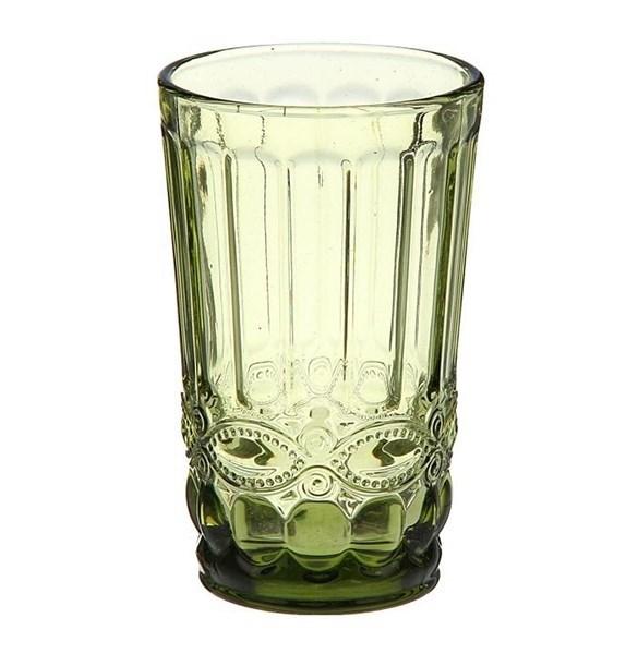 """Стакан """"Франция"""" зеленый 350 мл из цветного стекла - фото 11265"""