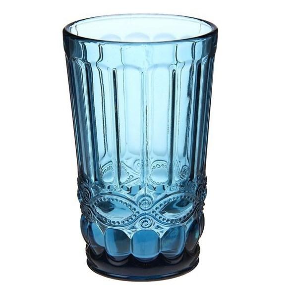 """Стакан """"Франция"""" синий 350 мл из цветного стекла - фото 11266"""
