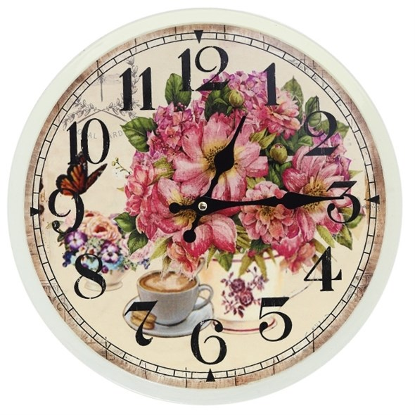 """Часы настенные """"Цветочный букет"""", диаметр 33 см - фото 11417"""