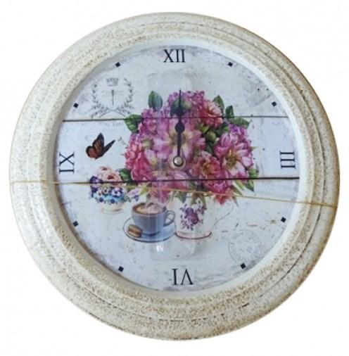 """Часы настенные """"Цветочный натюрморт"""", диаметр 32 см - фото 11418"""