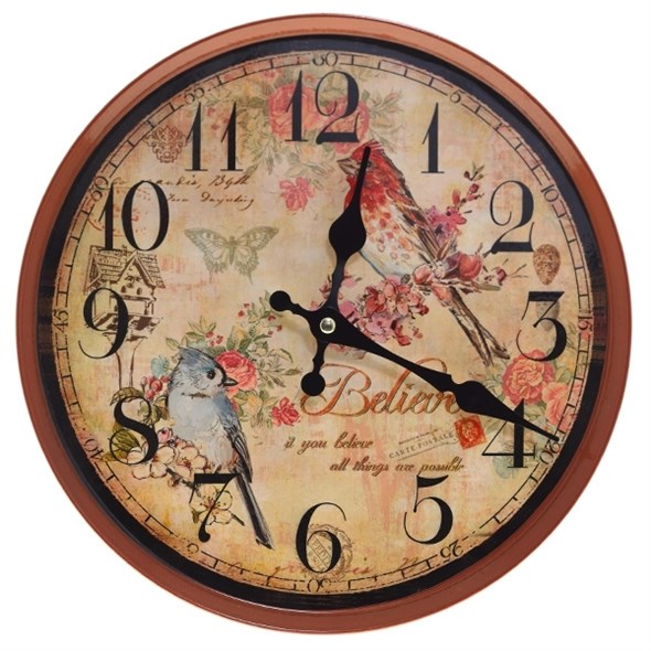 """Часы настенные """"Птички"""", диаметр 28 см - фото 11420"""