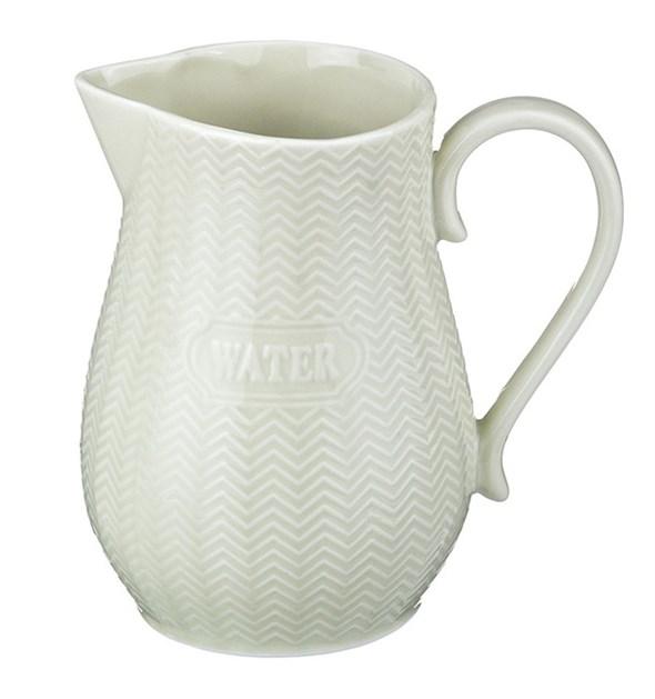 """Кувшин керамический """"Вода"""" 2000 мл белый - фото 11431"""