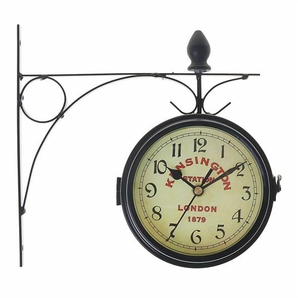 """Часы настенные """"Станция Кенсингтон"""" двухсторонние диаметр 16 см - фото 11546"""