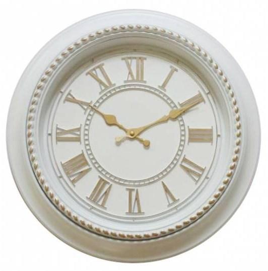 Часы настенные белые диаметр 40 см - фото 12008