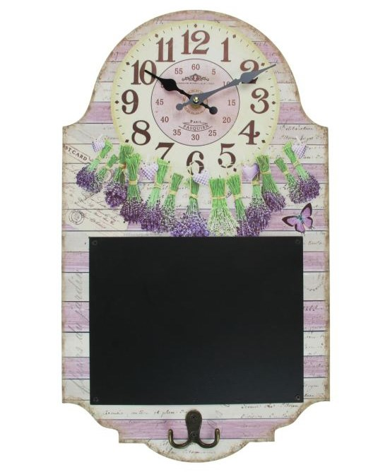 "Доска для заметок с часами ""Букет лаванды"" - фото 12188"