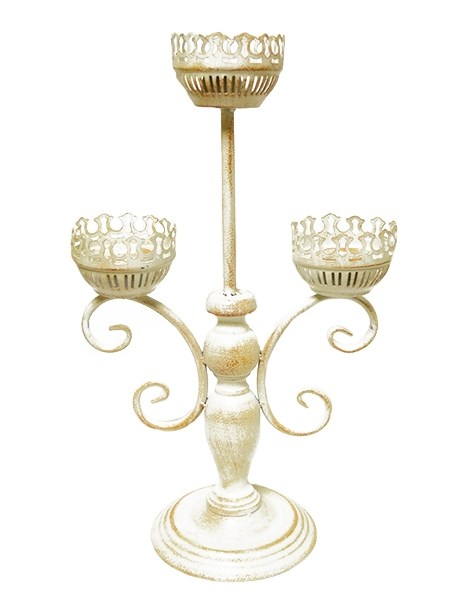Канделябр металлический на три свечи - фото 12543