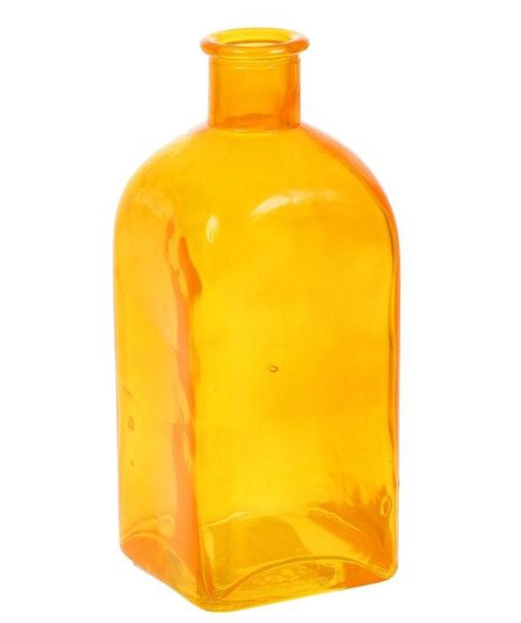 Ваза-бутылка стеклянная оранжевая - фото 12649
