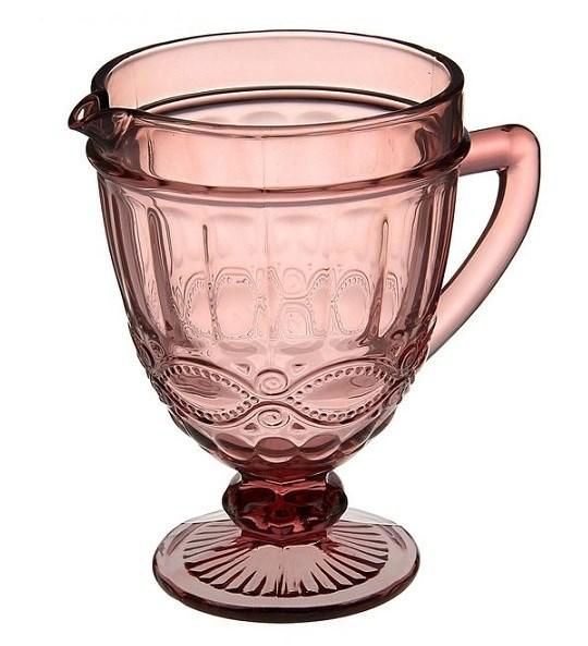 """Кувшин стеклянный """"Франция"""" розовый - фото 12768"""