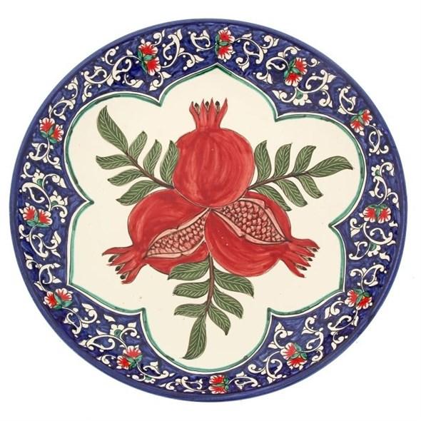 """Блюдо керамическое """"Гранаты"""" диаметр 31 см - фото 12774"""