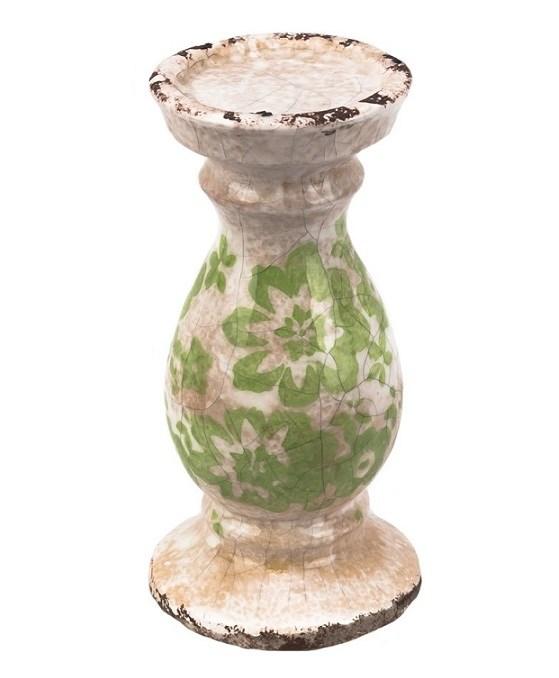 Подсвечник керамический цветочный - фото 13183