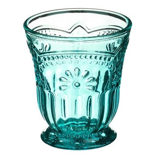 """Стакан """"Версаль"""" бирюзовый 250 мл из цветного стекла - фото 13281"""
