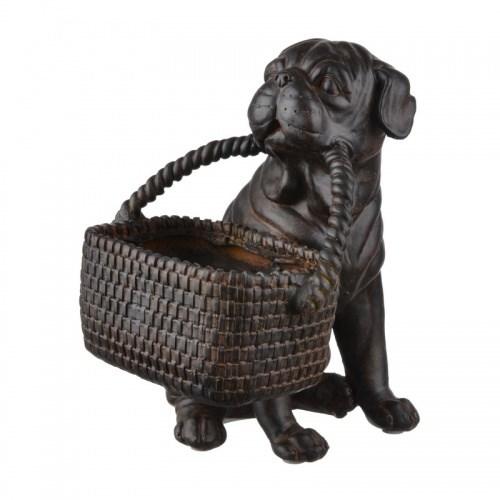 "Статуэтка ""Собака с корзиной"" - фото 13317"