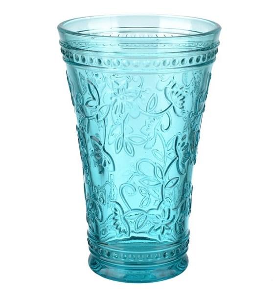 """Стакан """"Валенсия"""" голубой 430 мл из цветного стекла - фото 13343"""