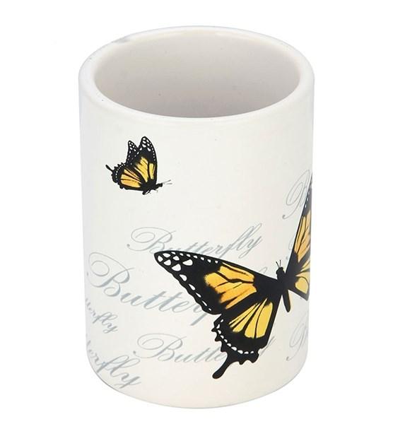"""Стакан для щеток """"Бабочки"""" - фото 13417"""